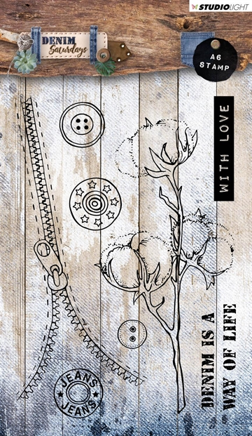 Happymade - Studio Light - Clear stamp - Denim Saturdays - STAMPDEN327