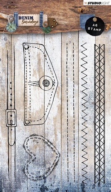 Happymade - Studio Light - Clear stamp - Denim Saturdays - STAMPDEN328
