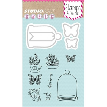 Happymade - Studio Light - Clear stamp and die - BASICDC07