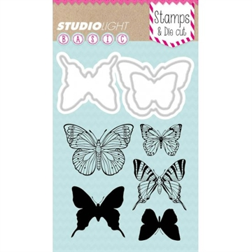 Happymade - Studio Light - Clear stamp and die - BASICDC09