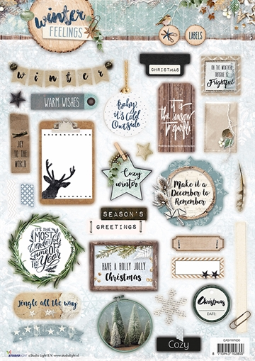 Happymade - Studio Light - Die cuts - Winter Feelings (EASYWF600)