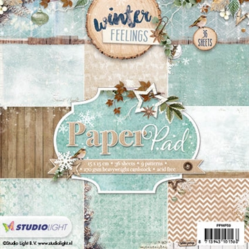 Studio Light Paper Pad 15x15cm - PPWF59