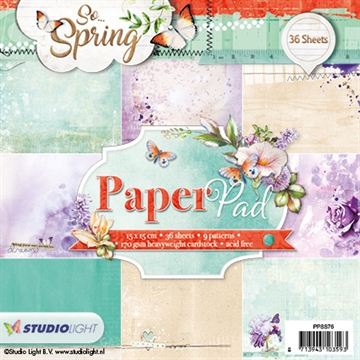 Happymade - Studio Light Paper Pad 15x15cm - PPSS76