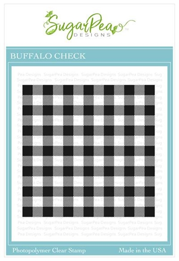 Happymade - SugarPea Designs - Clear Stamp - Buffalo Check