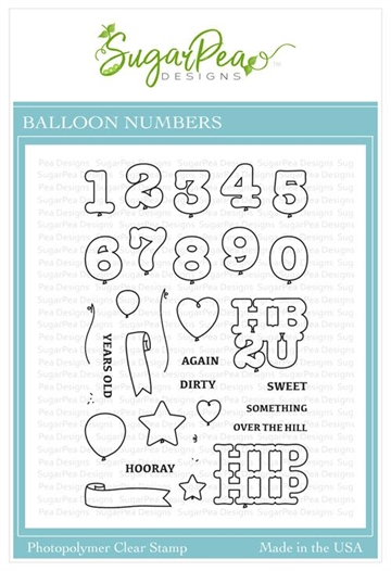 Happymade - SugarPea Designs - Clear Stamp - Balloon Numbers