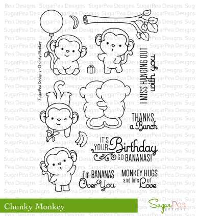 Happymade - SugarPea Designs - Clear Stamp - Chunky Monkey