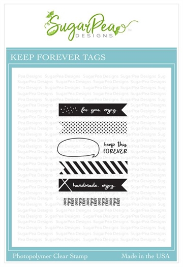 Happymade - SugarPea Designs - Clear Stamp - Keep Forever Tags