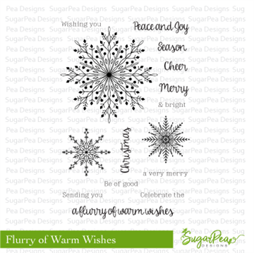 Happymade - SugarPea Designs - Clear Stamp - Flurry of Warm Wishes