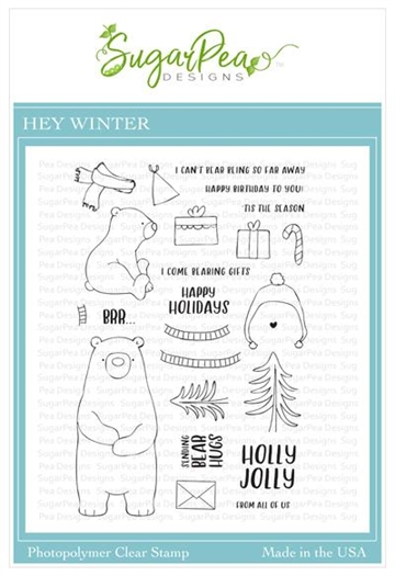 Happymade - SugarPea Designs - Clear Stamp - Hey Winter