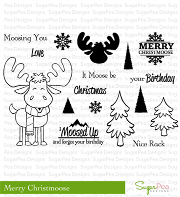 Happymade - SugarPea Designs - Clear Stamp - Merry Christmoose