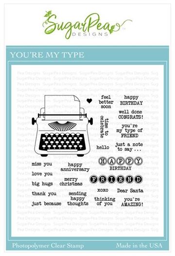 Happymade - SugarPea Designs - Clear Stamp - You're My Type