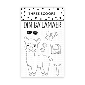 Happymade - Three Scoops - Clear Stamp - Din Ba'lamaer