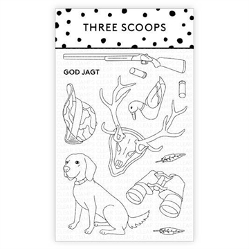 Happymade - Three Scoops - Clear Stamp - God Jagt