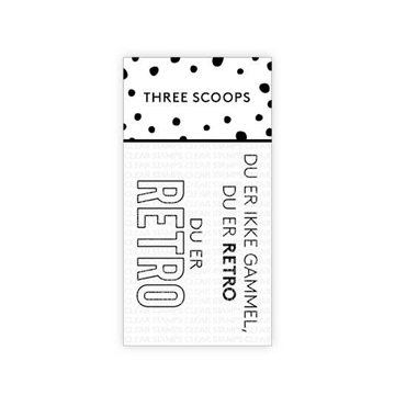 Happymade - Three Scoops - Clear Stamp - Du er retro