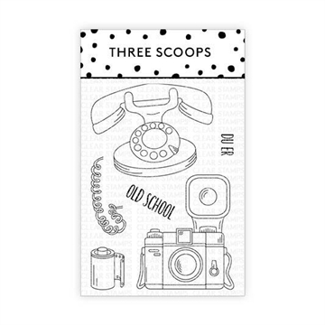 Happymade - Three Scoops - Clear Stamp - Du er oldschool