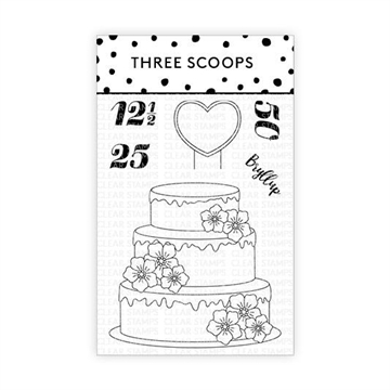 Happymade - Three Scoops - Clear Stamp - Bryllupskage