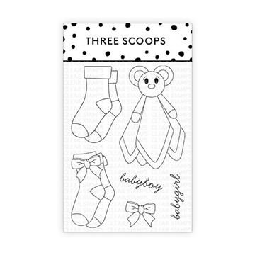 Happymade - Three Scoops - Clear Stamp - Babysok
