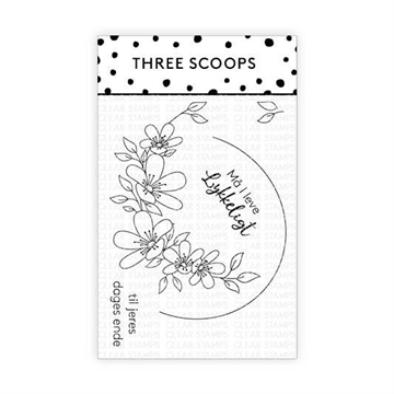 Happymade - Three Scoops - Clear Stamp - Blomsterkrans