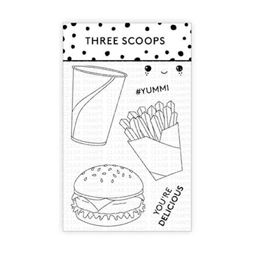 Happymade - Three Scoops - Clear Stamp - Burgermenu