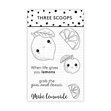 Happymade - Three Scoops - Clear Stamp - Citrusfrugter