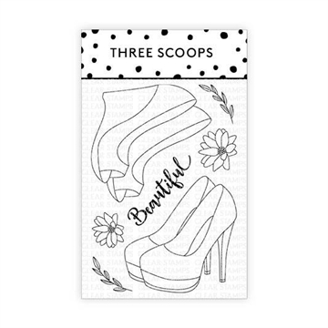 Happymade - Three Scoops - Clear Stamp - Damesko