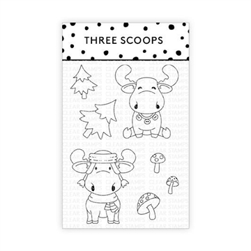 Happymade - Three Scoops - Clear Stamp - Elge