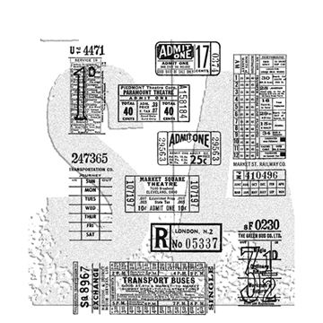 Happymade - Tim Holtz Cling Rubber Stamp Set - Ticket Booth (CMS337)