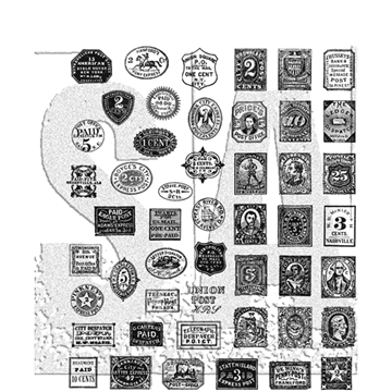 Happymade - Tim Holtz Cling Rubber Stamp Set - Stamp Collector (CMS338)