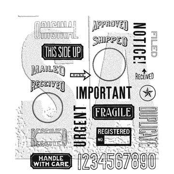 Happymade - Tim Holtz Cling Rubber Stamp Set - Mailart (CMS339)