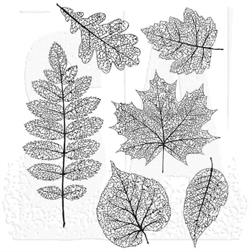 Happymade - Tim Holtz Cling Rubber Stamp Set - Pressed Foliage (CMS376)