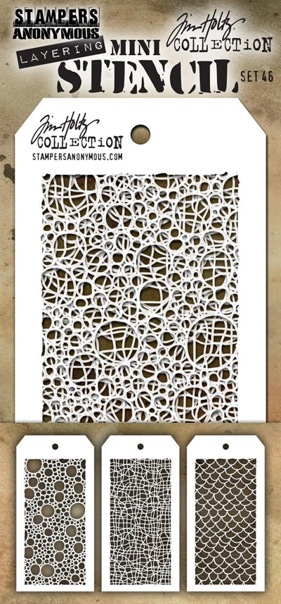 Happymade - Tim Holtz - MINI Stencil Set (#46)