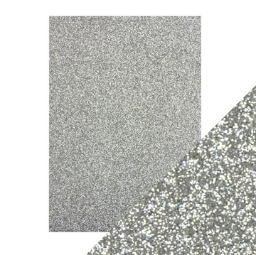 Tonics Studios - Craft Perfect - Glitter Card - Silver Screen (5 ark)