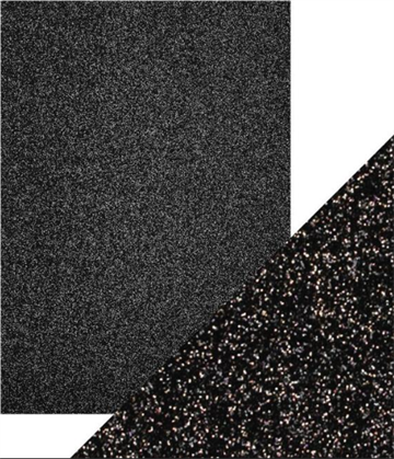Happymade - Tonics Studios - Craft Perfect - Glitter Card - Black Sapphire (5 ark)