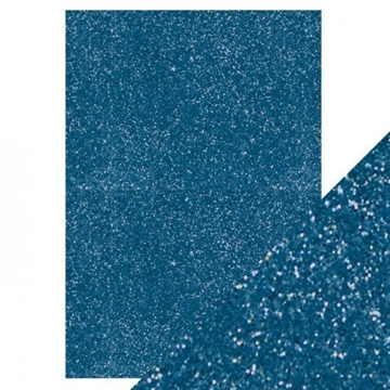 Happymade - Tonic Studios - Craft Perfect - Glitter Card - Cobalt Blue (5 ark)