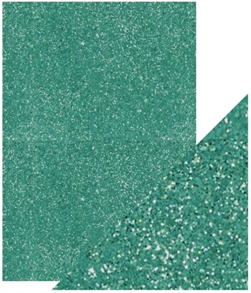 Happymade - Tonic Studios - Craft Perfect - Glitter Card - Turquoise Lake (5 ark)