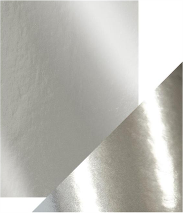 Happymade - Tonic Studios - Craft Perfect - Mirror Card - Chrome Silver (5 ark)