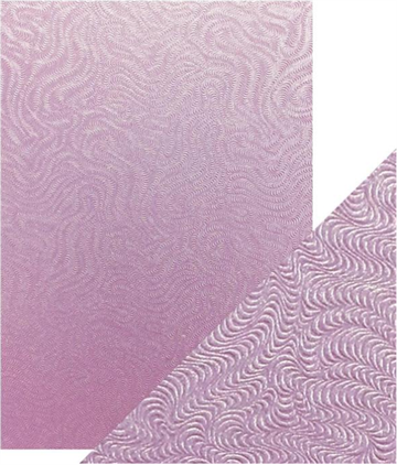 Happymade - Tonics Studios - Craft Perfect - Speciality Card - Lilac Waves (5 ark)