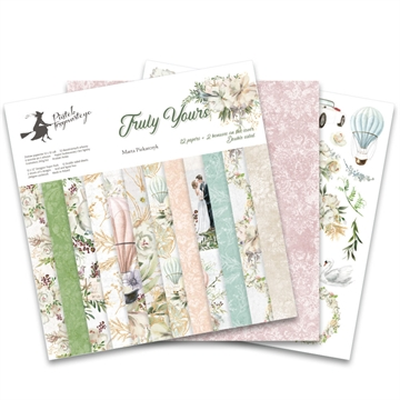 "Happymade - Piatek - Design papers - Truly Yours - 12x12"" (pakn. m/12 + 2 bonus ark)"