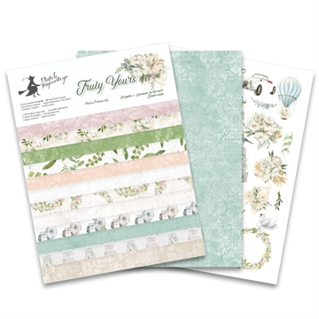 "Happymade - Piatek - Design papers - Truly Yours - 6x8"" (pakn. m/24 + 2 bonus ark)"