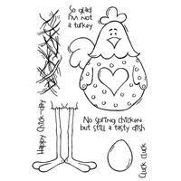 Happymade - Woodware - Clear stamp - No spring chicken - FRS280