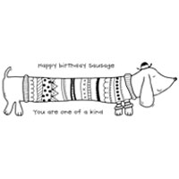 Happymade - Woodware - Clear stamp - Sausage dog - FRS343