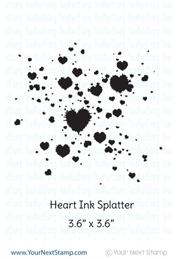 Happymade - Your Next Stamp - Clear stamp - Heart Splatter (CYNS167)