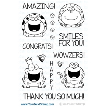 Happymade - Your Next Stamp - Clear stamp - Smiley Happy Critter Crew One (CYNS522)