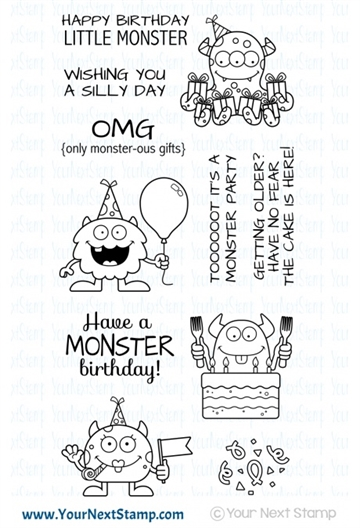 Happymade - Your Next Stamp - Clear stamp - Silly Birthday Monsters (CYNS585)