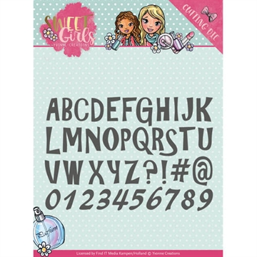 Happymade - Yvonne Creations die set - Sweet Girls - Lovely Alphabet - YCD10121