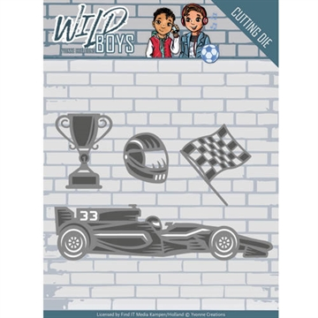 Happymade - Yvonne Creations die set - Wild Boys - Racing - YCD10117