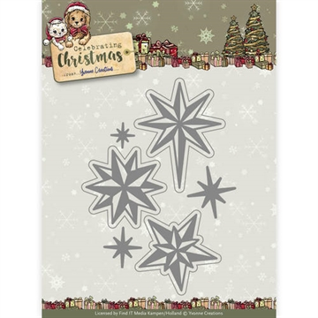 Happymade - Yvonne Creations die set - Celebrating christmas - Twinkling stars - YCD10109