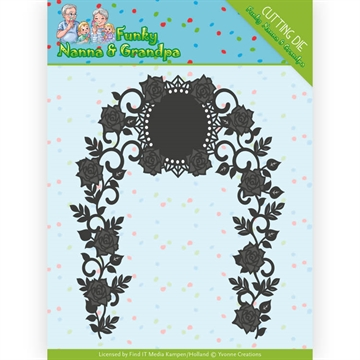 Happymade - Yvonne Creations die set - Funky Nanna & Grandpa - Floral Arch - YCD10158