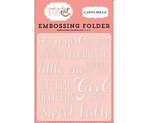 Carta Bella - Embossing folder - Sweet baby girl