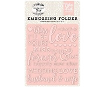Echo Park - Embossing folder - Forever love